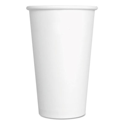 Convenience Pack Paper Hot Cups 16 oz White 9 Cups/Sleeve 20 Sleeves- 180/Carton