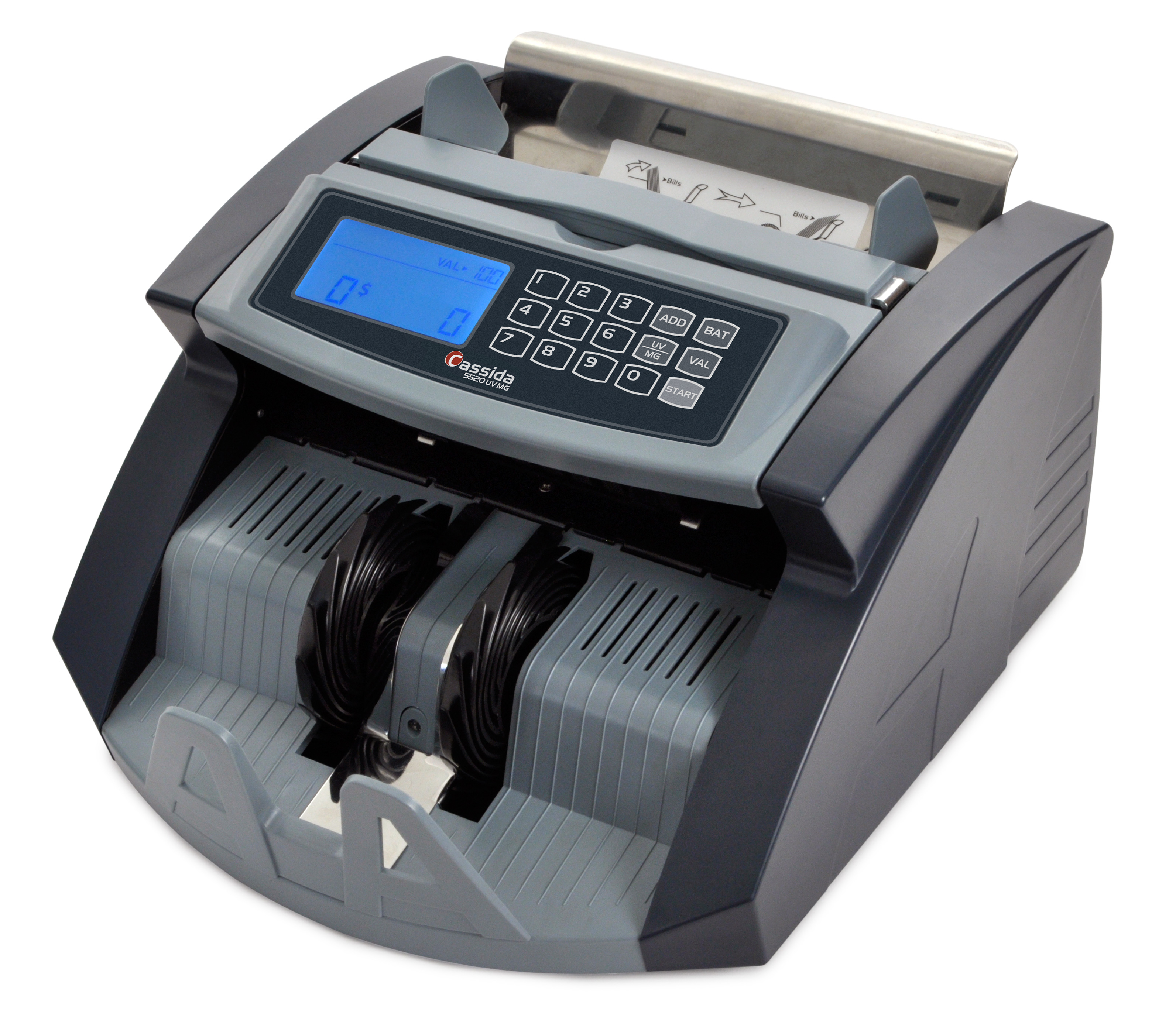 Cassida 5520 UV/MG Bill Counter with ValueCount UV and Magnetic Counterfeit Detection