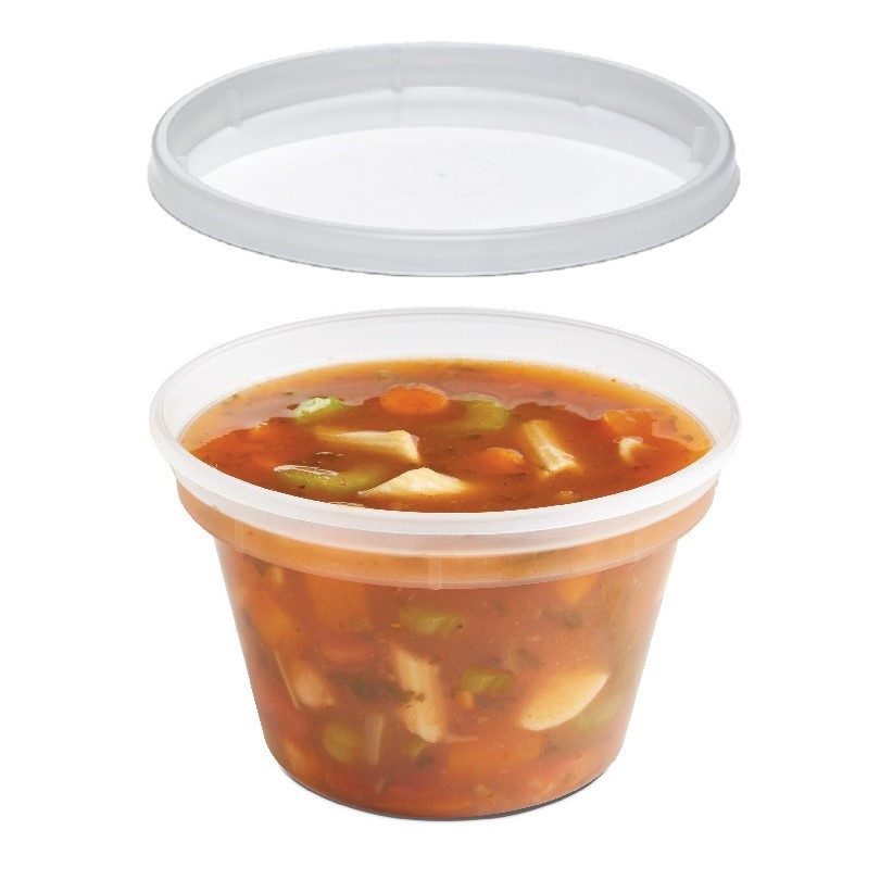 Placon 8 oz. Clear Polypro Classic Line® Deli Cup/Recessed Lid Combo CL008/1532  250/250 ct