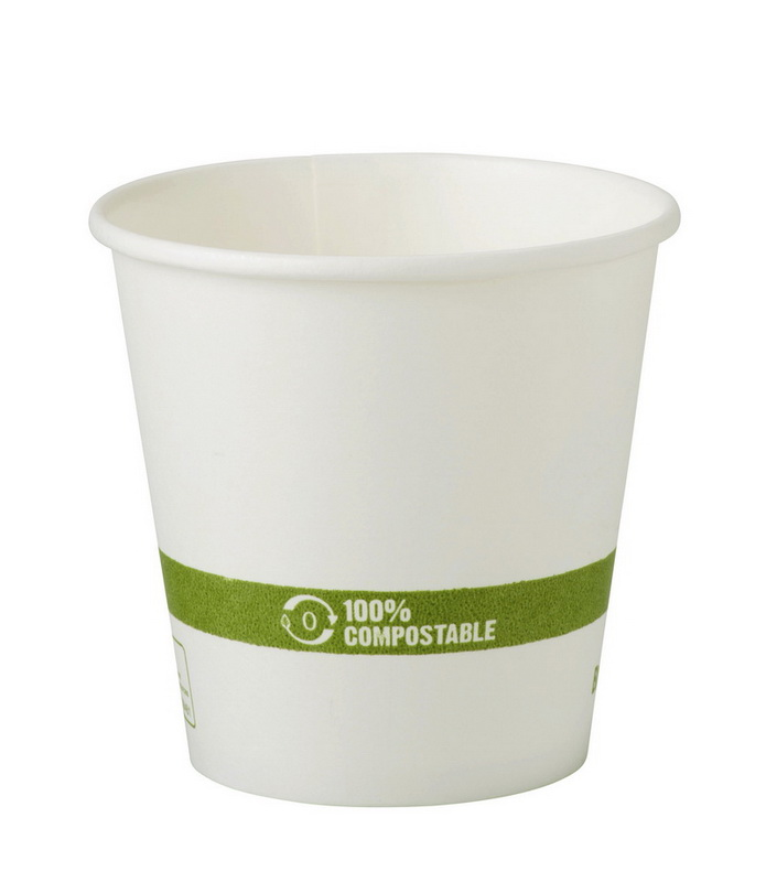 WCT Compostable Ingeo Lined 10 oz FSC Paper Hot Cup - White 1,000 ct.
