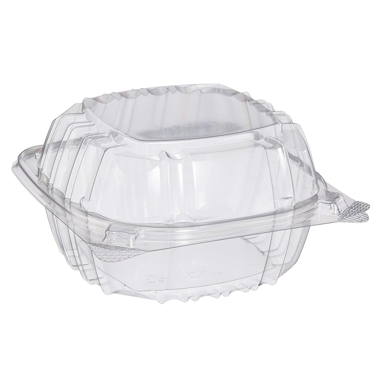 Dart C57PST1 6x6x3 Clear OPS Hinged Salad/Sandwich ClearSeal® Container 500 ct