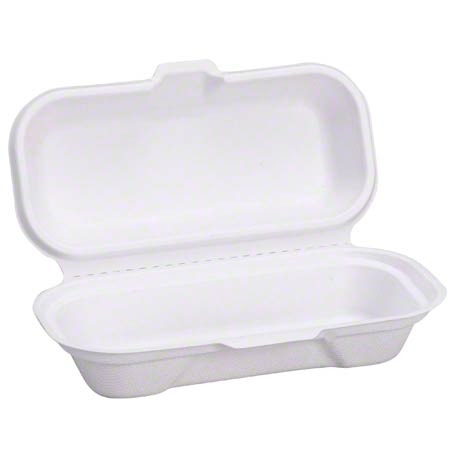 Compostable Hot Dog Container White 400 ct