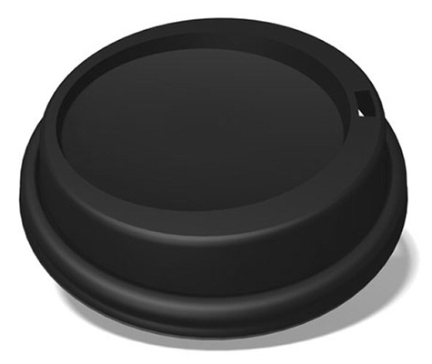 IP Lid Dome Black Hot Cup For 10 12 16 20 24oz 12/100