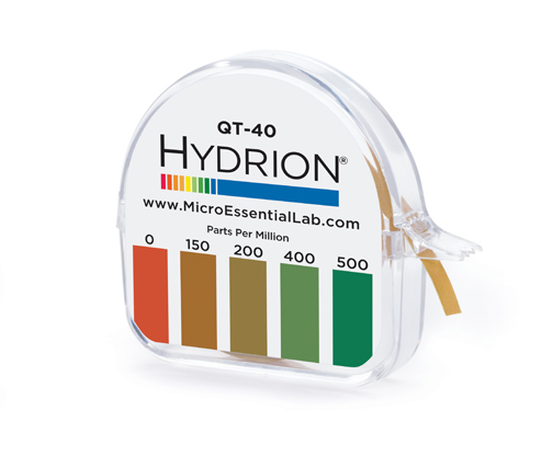 Hydrion (QT-40)Quat Test Paper - 15ft Dial