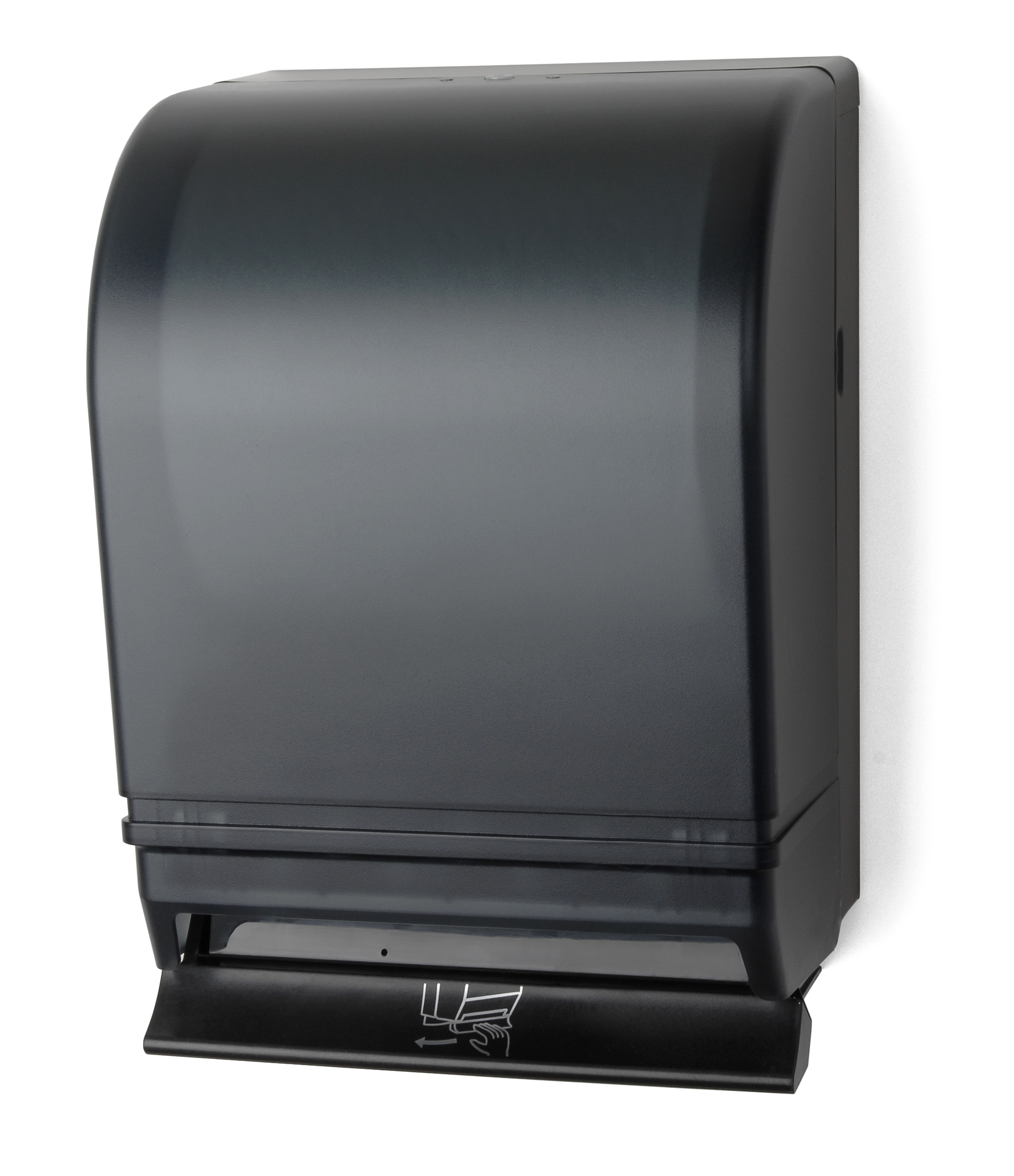 Auto-Transfer Push Bar Roll Towel Dispenser - Black Translucent