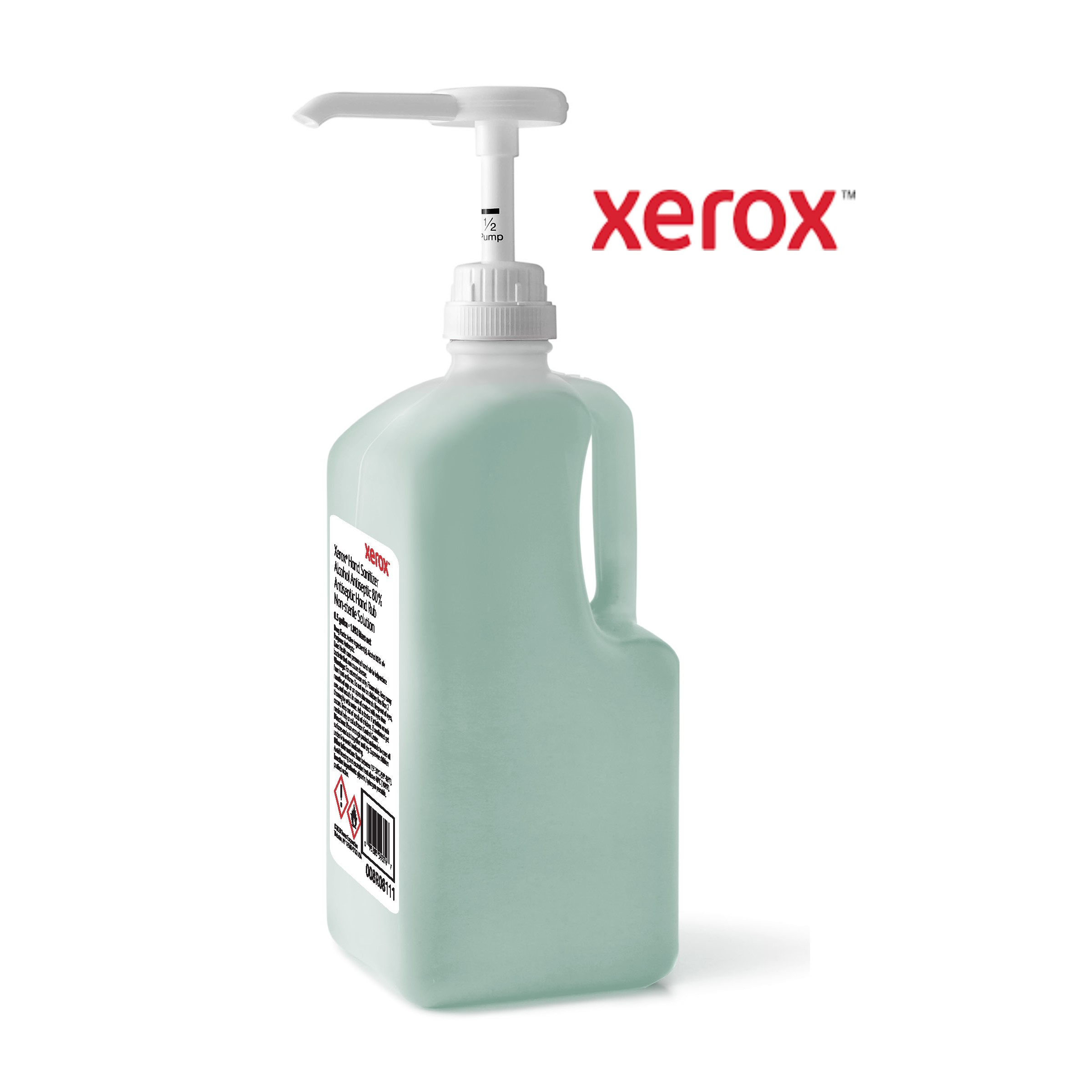 Xerox Hand Sanitizer 0.5 gal Bottle Hospital-Grade Unscented