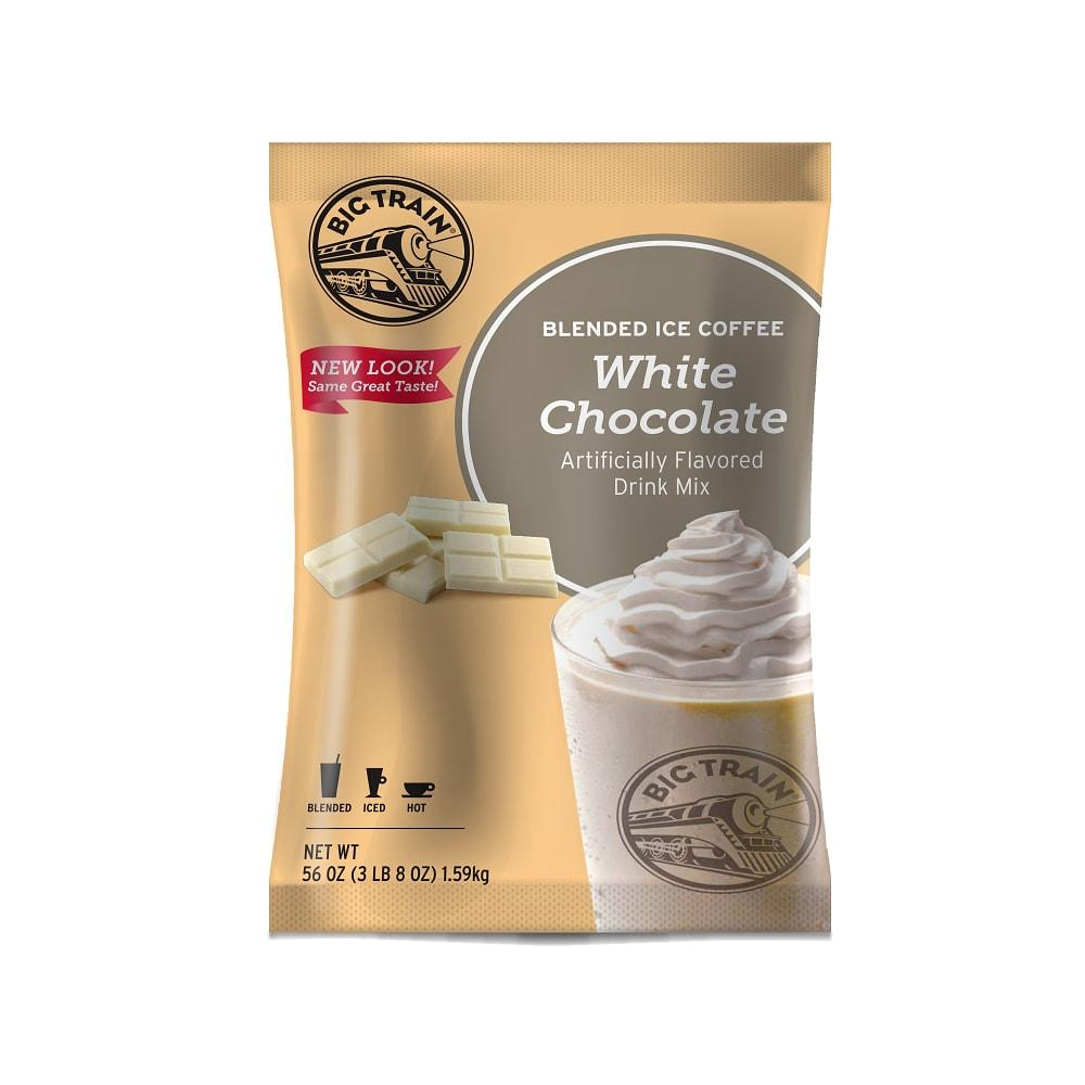 Big Train White Chocolate Latte Blended Ice Coffee Beverage Mix - 5 x 3.5lb Bags