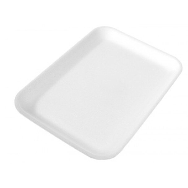 CKF 2S White Foam Supermarket Tray 8.25x5.75x5 - 500ct