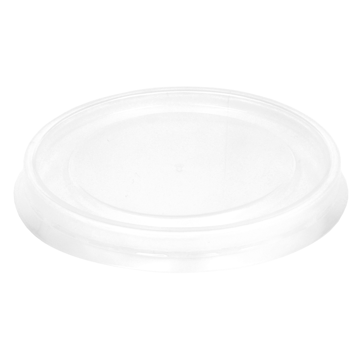 Inno-Pak Clear Small Polypropylene Lid (Fits 8, 10, 12, & 16 tall) 500 ct