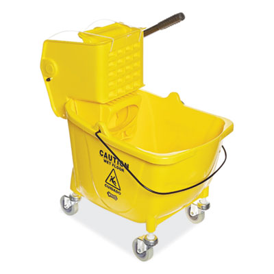 Boardwalk Pro-Pac Side-Squeeze Wringer/Bucket Combo 8.75 gal Yellow