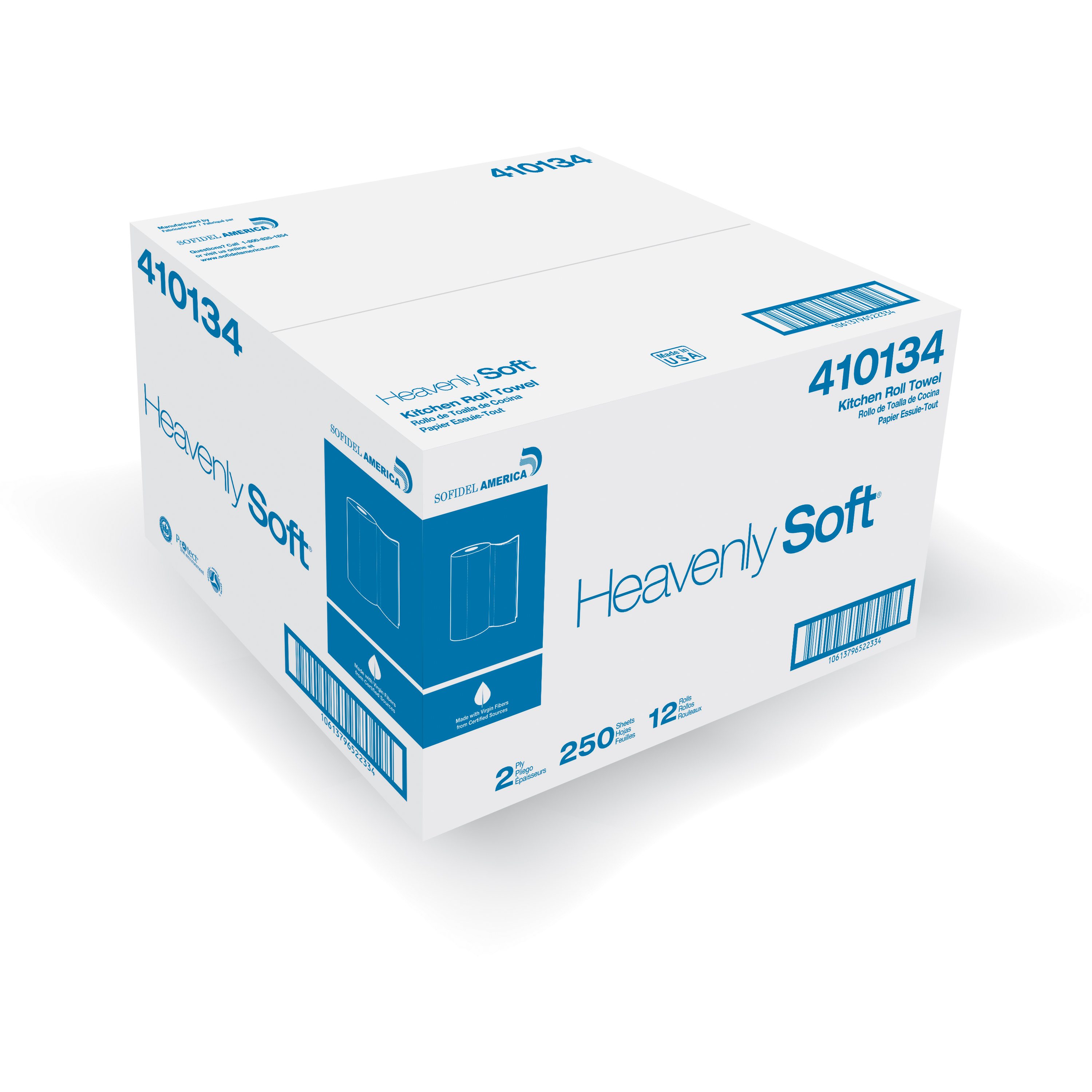 Sofidel Heavenly Soft Kitchen roll towel 2ply 8x11 12 / 250