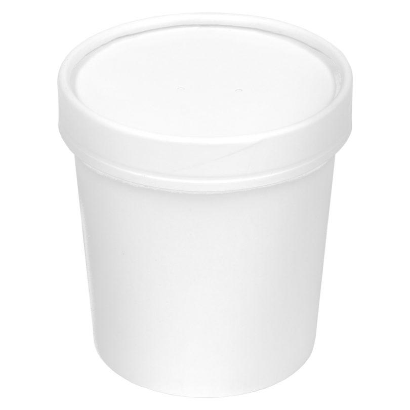 Inno-Pak Paper Soup Bowl/Lid Combo 16 oz (250 ct.)