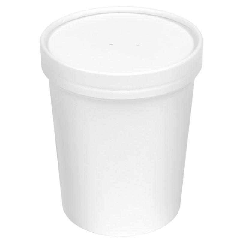 Inno-Pak Paper Soup Bowl/Lid Combo 32 oz (250 ct.)