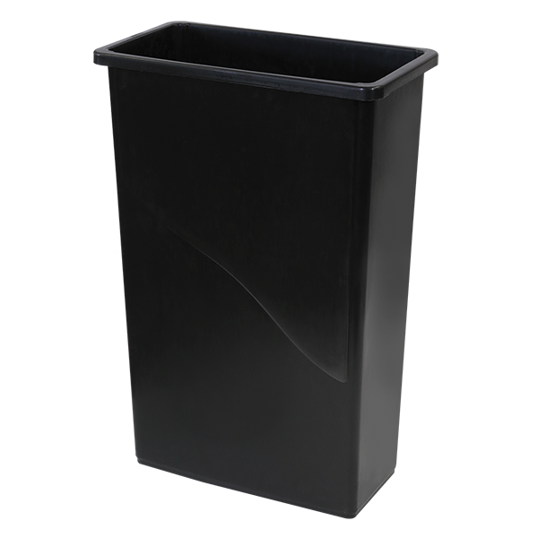 OC Commercial 23-Gallon Gladiator™ Slim Container - Black