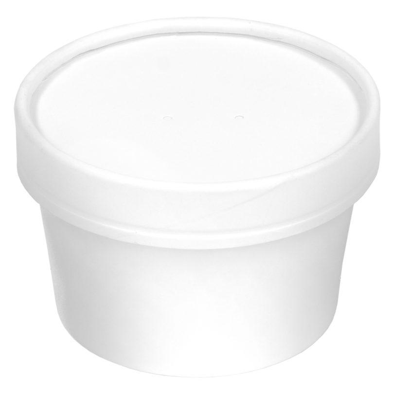 Inno-Pak Paper Soup Bowl/Lid Combo 8/10 oz (250 ct.)