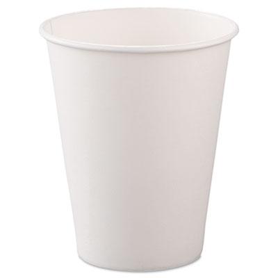 Dart Solo 8oz White Paper Hot Cups 378W-2050 - 1000ct