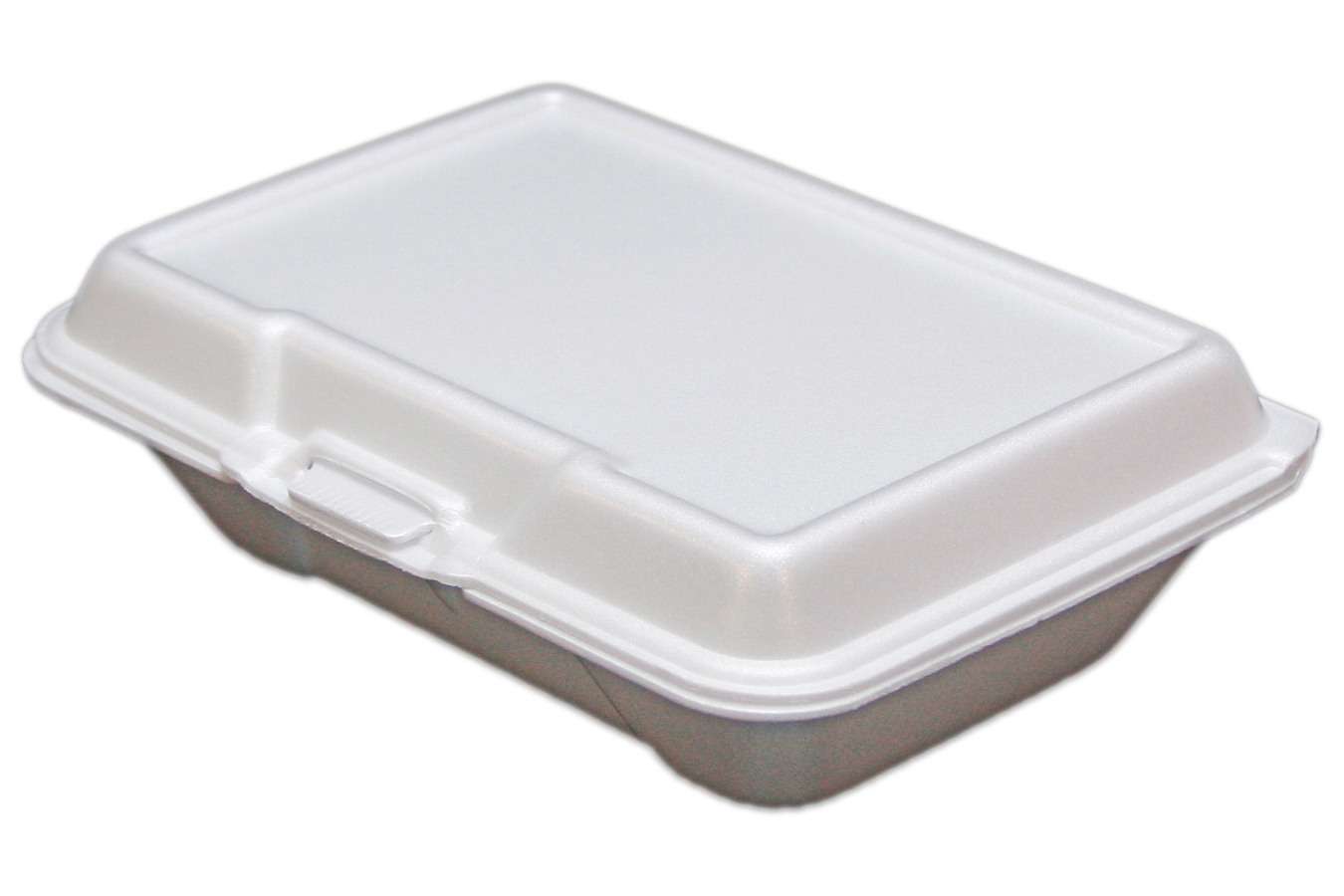 EcoPax 205 Foam Hinged Container White 9.25x6.375x2.875 2/100 (200 ct.)