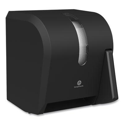 Georgia Pacific Hygienic Push-Paddle Roll Towel Dispenser 13 x 10 x 14.4 Black