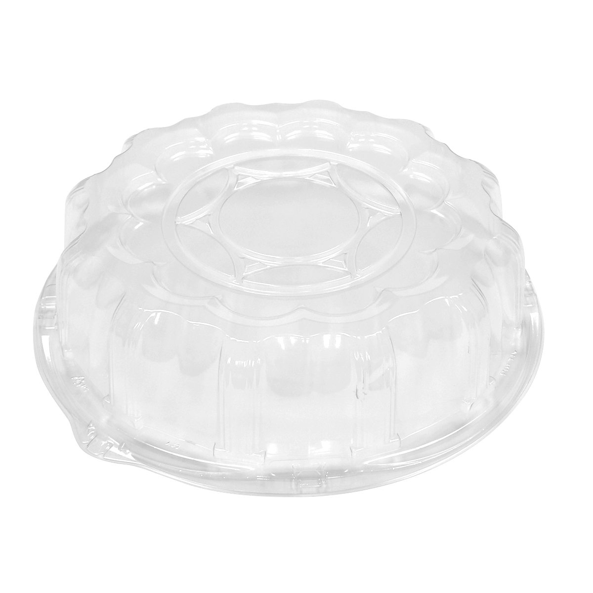 "18-310081 - Pactiv P9812 Clear Plastic 12"" Dome Lid 50ct"