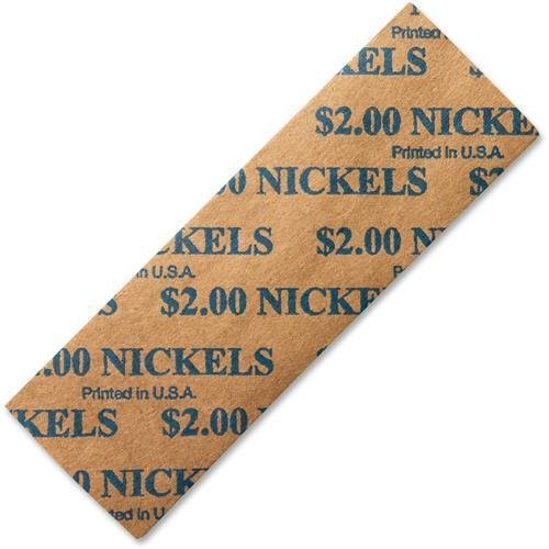 68-53005E - PM Nickels Coin Tubular Wrappers Flat 1,000ct