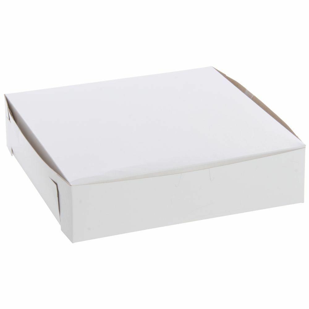 SCT 10x10x2.5 White CCNB Lock Corner Non-Window Box F202-1025(0969) Tuck Top 250ct