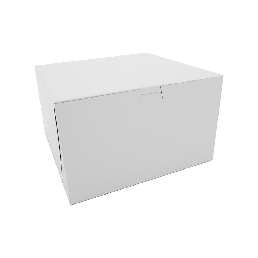 SCT 10x10x6 White CCNB Lock Corner Non-Window Box F202-1060(0979) Tuck Top 100ct