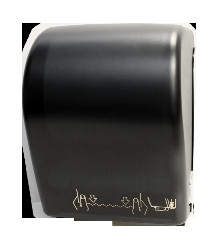 Mechanical Auto-Cut Roll Towel Dispenser - Black Translucent