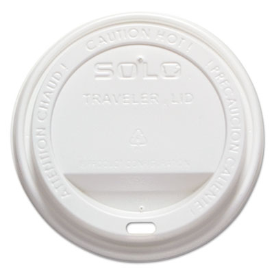 Solo Traveler® TLP316 Dome Lids WHITE - 1000/carton