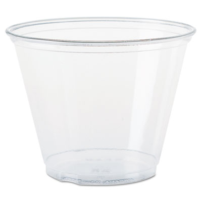 Dart TP9R Ultra Clear Cups Squat 9 oz PET 50/Bag 1000/Carton