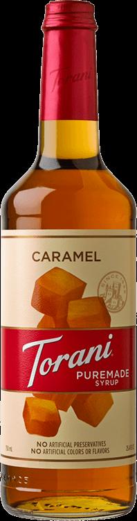 Torani Caramel Puremade Syrup 750ml - 4/Case