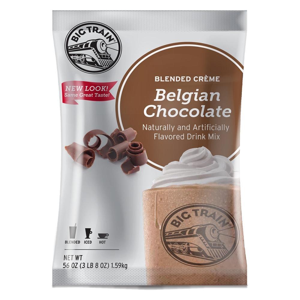 Big Train Belgian Chocolate Blended Crème Beverage Mix - 5 x 3.5lb Bags