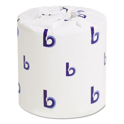 "Boardwalk Two-Ply Toilet Tissue Septic Safe White 4.5 x 3"" 500 Sheets/Roll 96 Rolls/Carton"