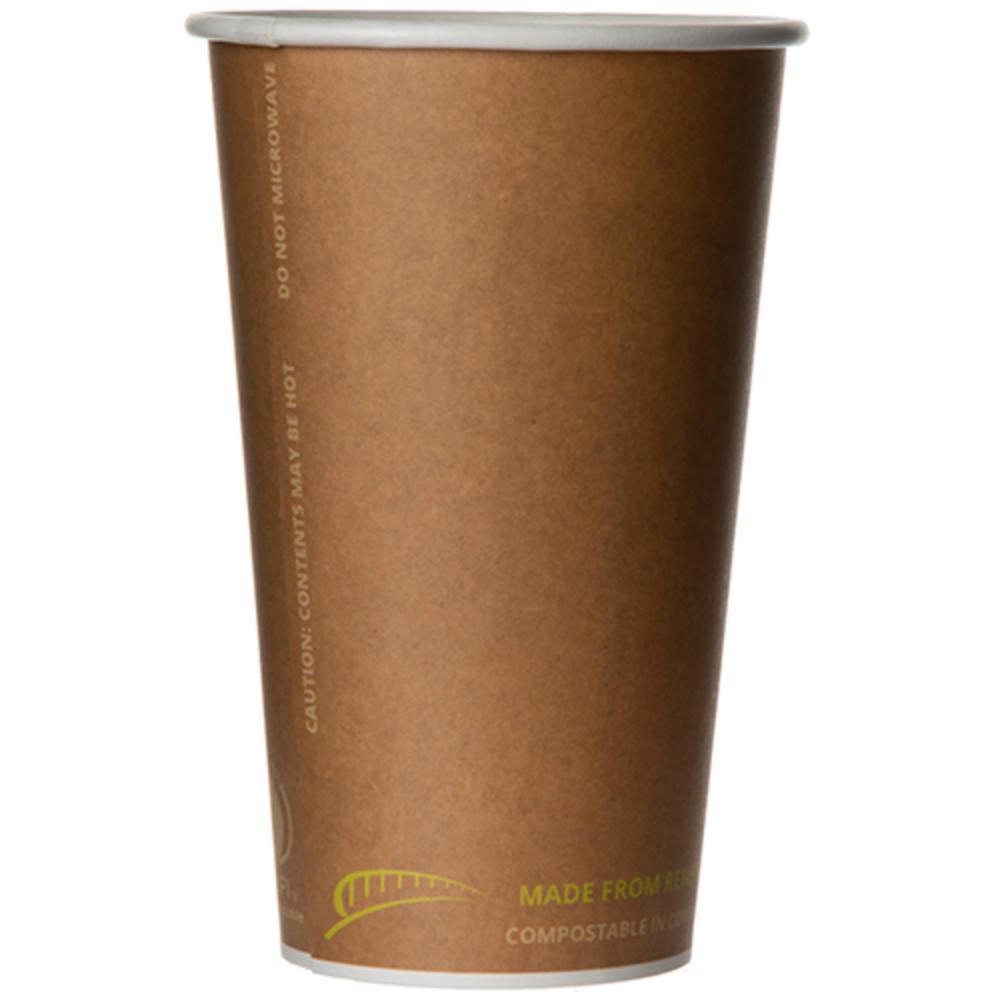 BG-BHC16 BPI-Cert Compostable 16oz Hot Cup (20/50) 1,000ct
