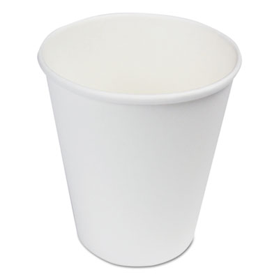 18-BWKW8HC - BWK Paper Hot Cups 8 oz White 1000/Carton