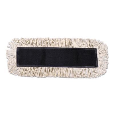 Boardwalk Mop Head Dust Disposable Cotton/Synthetic Fibers 48 x 5 White