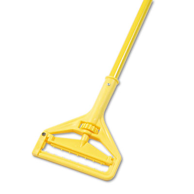 "Boardwalk Quick Change Side-Latch Plastic Mop Head Handle 60"" Aluminum Handle Yellow"