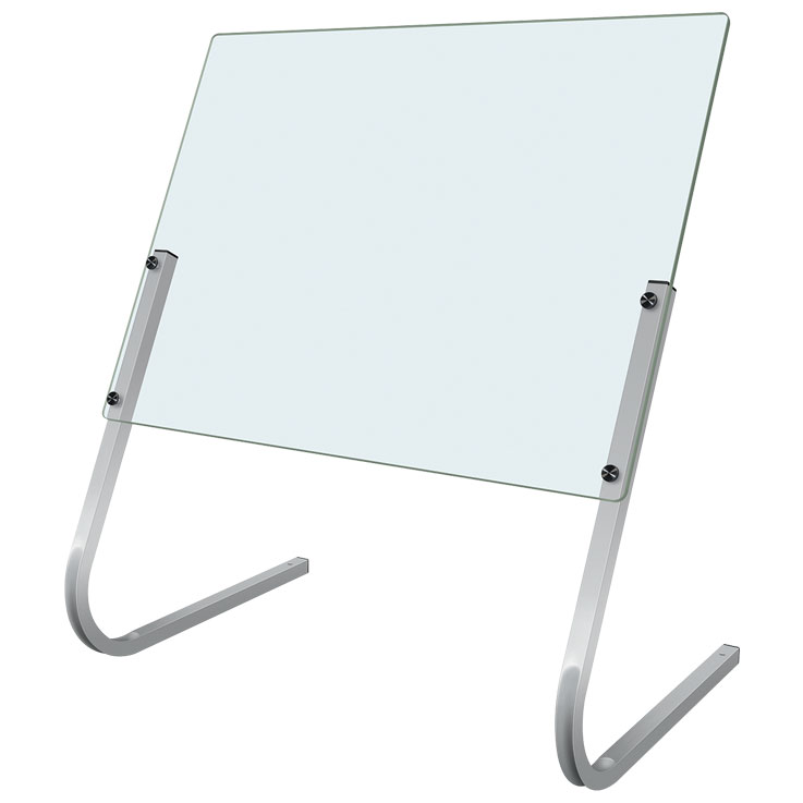 Hatco Cashier Shield Acrylic with Stainless Steel Supports CS3236S