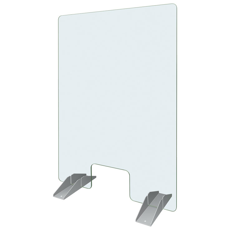Hatco Cashier Shield with Pass-Thru Window and Base Brackets CS3040P