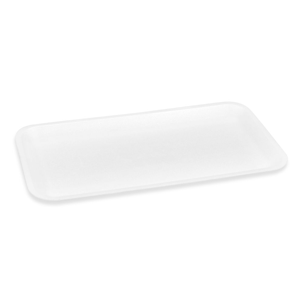18-751642 - CKF 10S White Foam Supermarket Tray 10.75x5.75x5 - 500ct