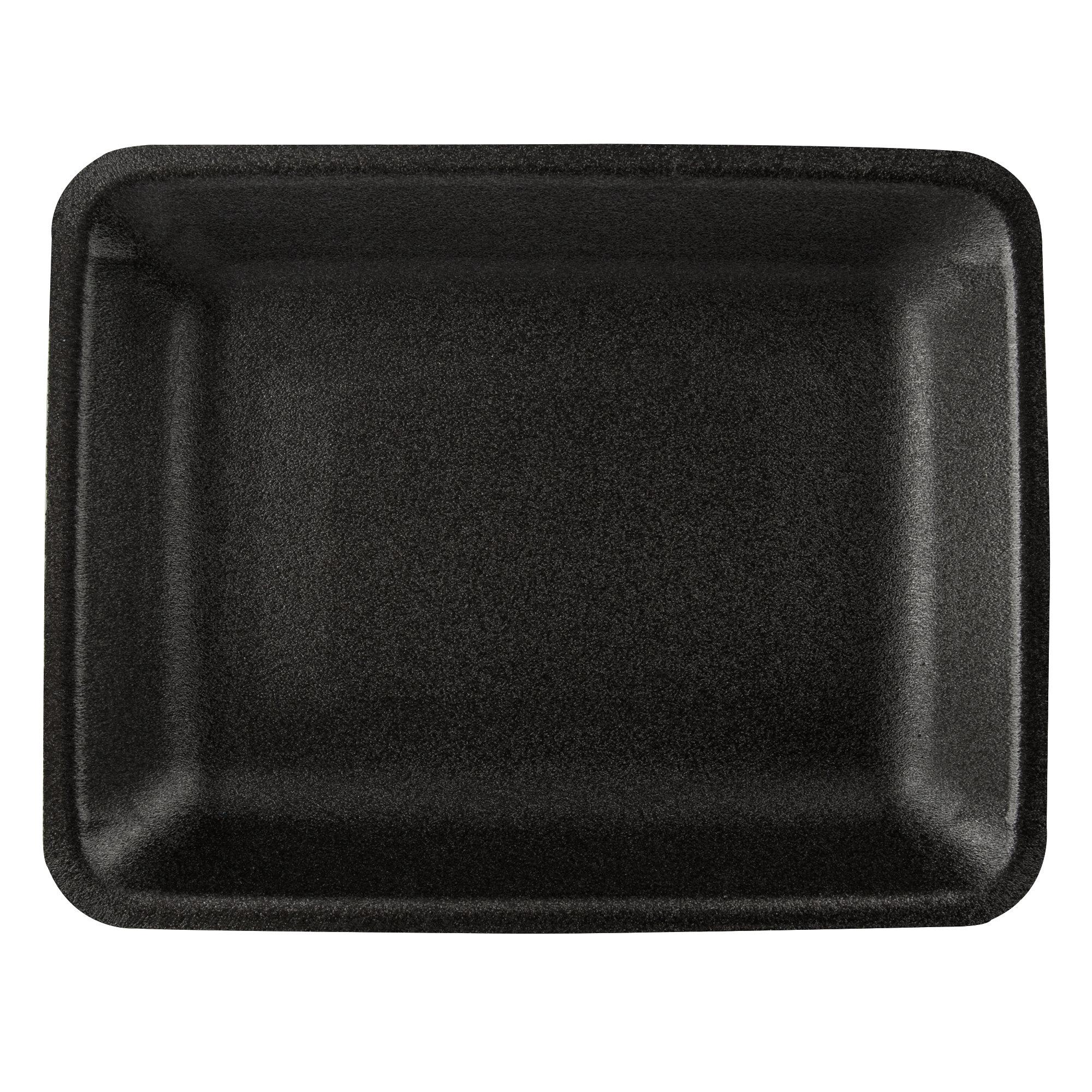 CKF 4P-R Black Foam Supermarket Tray 9.25x7.25x1.25 - 500ct