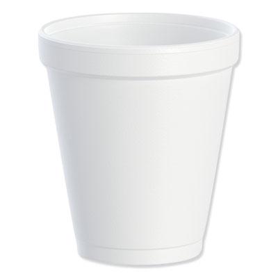 Dart 8J8 Foam Drink Cups 8oz White 25/Bag 40 Bags/Carton
