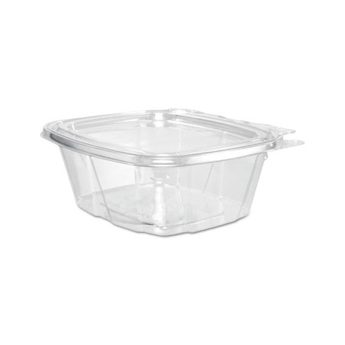 Dart ClearPac SafeSeal 12oz Tamper-Evident Container w/Flat Lid CH12DE - 200ct