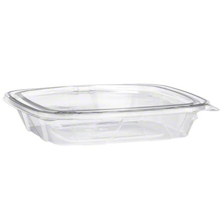 Dart ClearPac SafeSeal 16-20oz Tamper-Evident Container w/Flat Lid CH1620DSF - 200ct