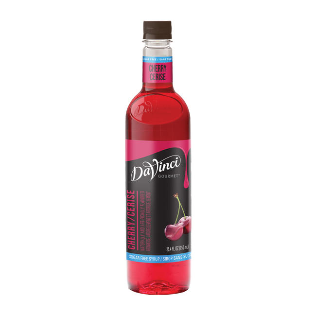 26-DV402106 - DaVinci PET Sugar Free Cherry Syrup 750 ml