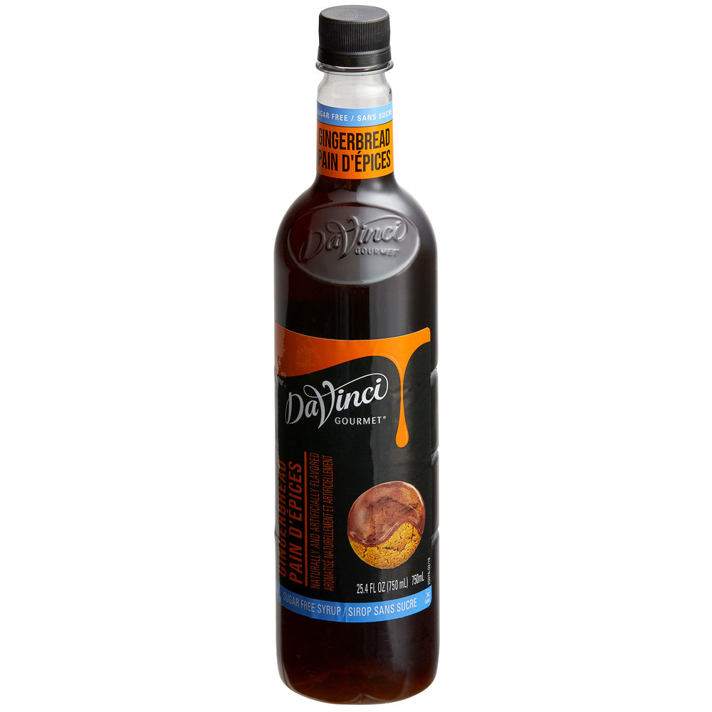 26-DV021771 - DaVinci PET Sugar Free Gingerbread Syrup 750 ml