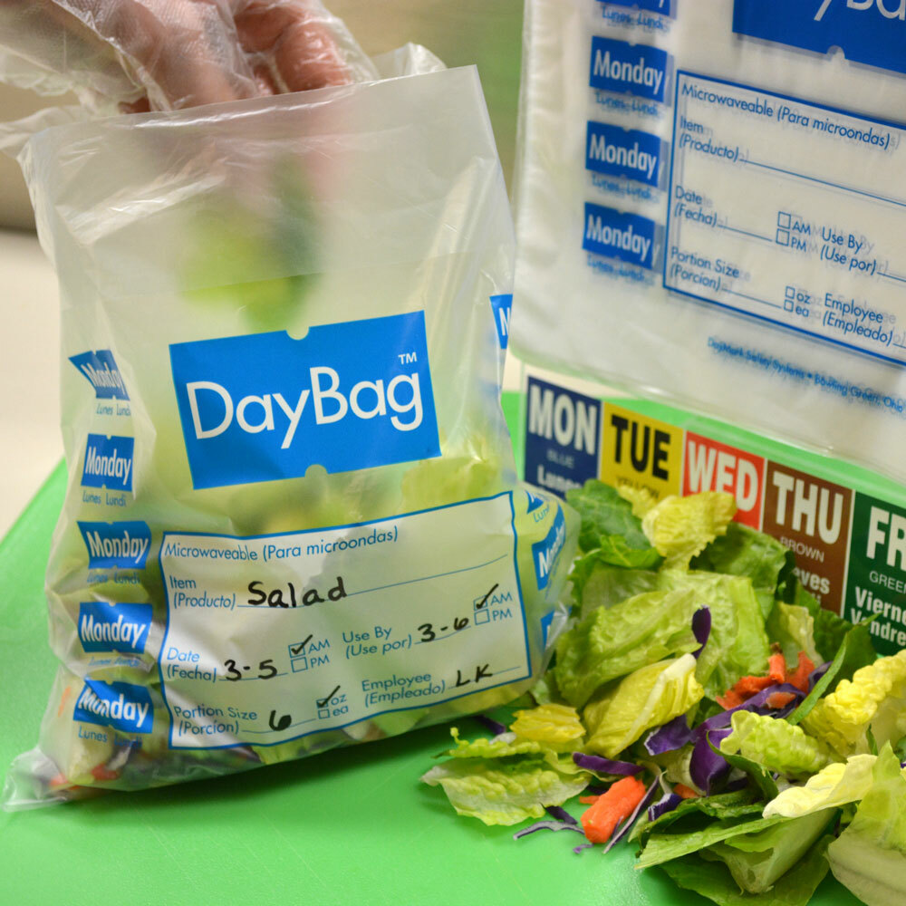 """DayMark 6.5"""" x 7"""" Day of the Week Bags"""