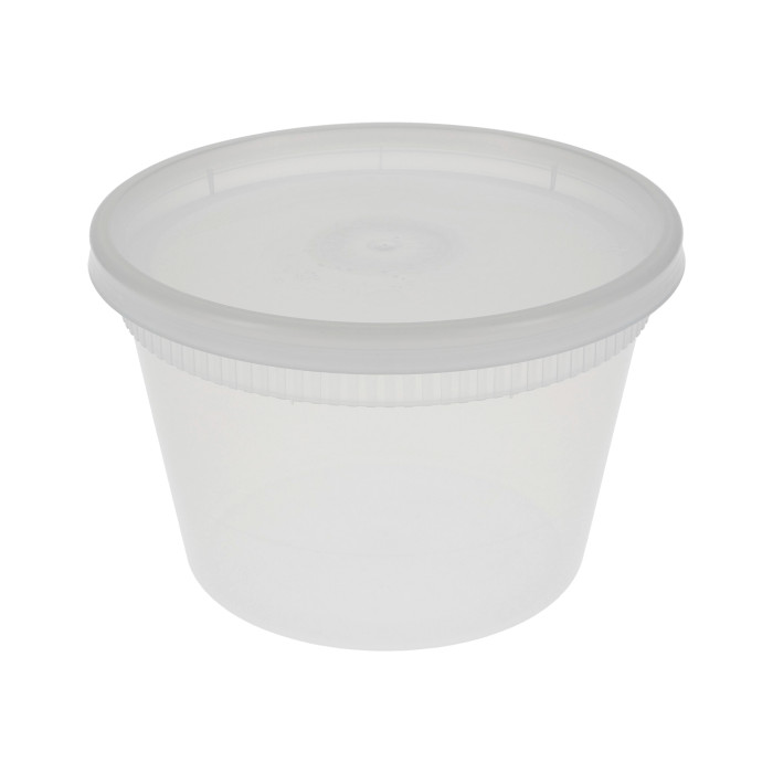 18-208400 - DELItainer 16oz Translucent Polypro Heavyweight Deli Cup/Lid Combo YSD2516 240/240