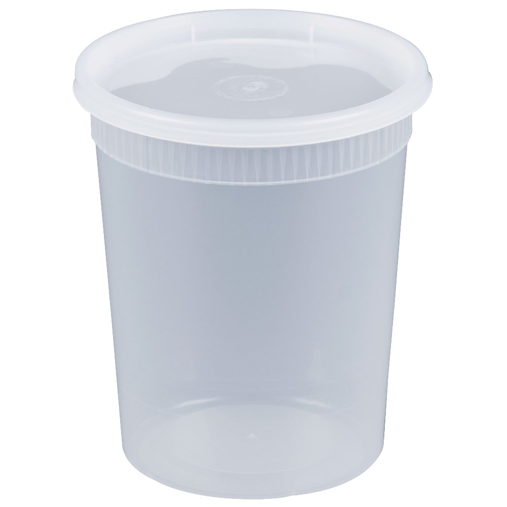 18-209400 - DELItainer 32oz Translucent Polypro Heavyweight Deli Cup/Lid Combo YSD2532 240/2...