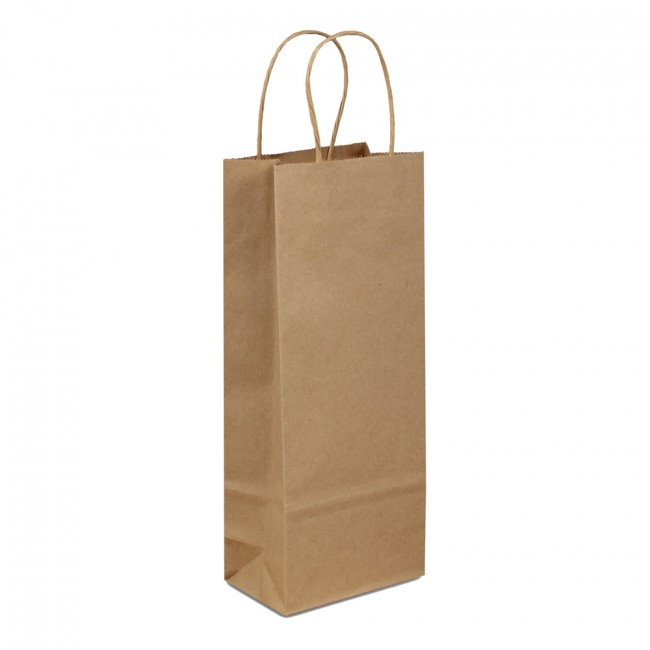 Duro 75079 Vino Handle bag 5 1/4 x 3 1/4 x 13 1/8 Kraft (250ct)