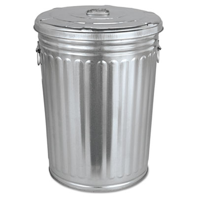 Magnolia Pre-Galvanized Trash Can with Lid Round Steel 20 gallon gavanized